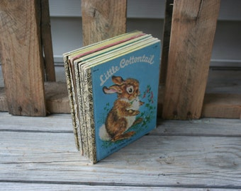 Set of Nine Vintage Little Golden Books - Instant Collection - Children's Books
