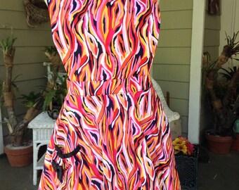 Artsy ruffle apron
