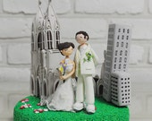 Custom Cake Topper -I Love New York The cathedral of Saint Patrick-