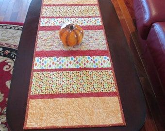 Homemade -  Fall Table Runner - Happy Harvest