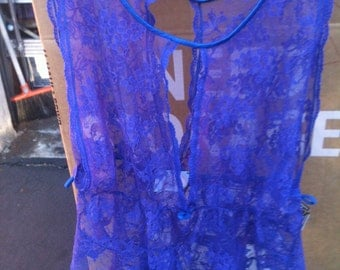 Lace large sleeveless top cami by cine star/baby doll?