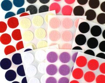 "1"" Adhesive - 144 Felt Circles 12 Color Pack"