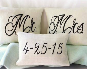 Burlap Pillows / Wedding Set / Covers or Prefilled