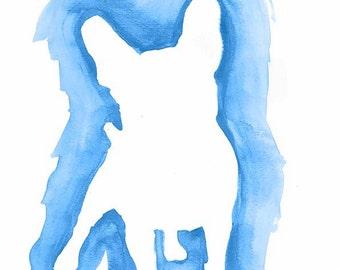 Watercolor Bulldog print, Mi Designer Styling wall art print, printable art, printable pet