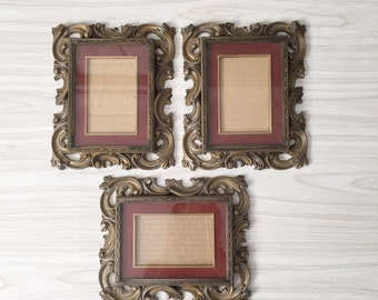 SALE / vintage ornate victorian rectangular picture frame / one frame