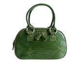 Authentic Isabella Fiori Green Crocodile Leather Mini Handbag Tote