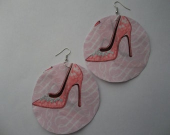 "Earrings pretty in pink shoes pumps silver stilettos Fabric circle round Basketball wives designer style Summer 3"" women teens"