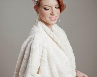 Faux Rabbit Fur Swing Coat