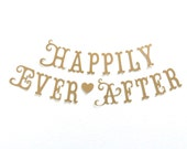 SHIPS PRIORITY.  Happily Ever After Banner.  Wedding Decorations.  Photo Prop.  Engagement.  Princess Party.  Tea Party.  5280 Bliss.