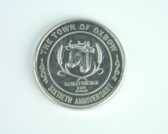 OXBOW COMMEMORATIVE TOKEN, Celebrating 60th Anniversary of Incorporation, 1964