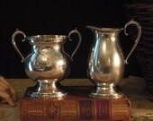 Vintage Silver Plate Tea  Pot / Creamer and Sugar / Portsmouth Silver / EPWM / Tea Time