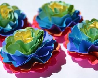 Funky Tie Dye Handmade Paper Carnation Flowers