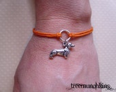Dachshund Wiener Dog Circle of Life Bracelet or Anklet, made in USA