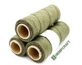 Thin Hemp Twine, Sage Green Micro Macrame Cord, High Quality .5mm Hemp Craft Cord