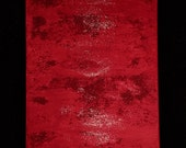Red Texture Original Abstract Art Acrylic Painting Gallery Wrapped Ready to hang