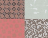 Mix & Match 12x12 Art Papers Printed with Metallic Ink for Bookbinding, Decor, Collage and More