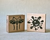 Mosquito and Splat Rubber Stamp Blocks New for Card Making Scrapbooking Decor and More