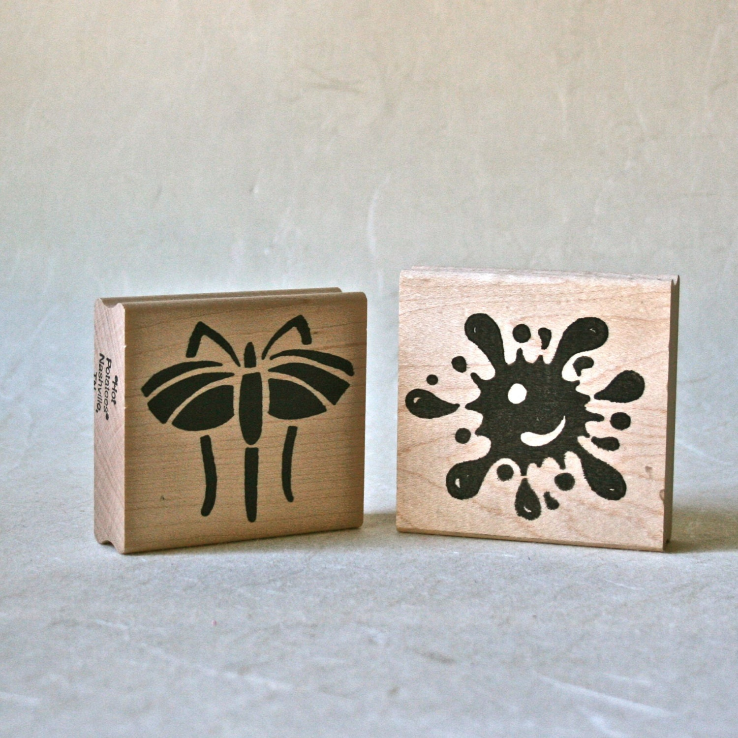 Mosquito and Splat Rubber Stamp Blocks New for Card Making