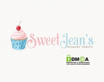 Cupcake Logo Design Bakery Logo Design Premade Logo Design Graphic Design Bakers Logo Design Cake Shop Logo Bespoke Logo Design Branding