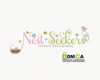 baby logo design newborn photography doula logo design bespoke logo design graphic design premade logo design nest logo design watermark