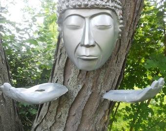 buddha with hands tree art outdoor buddha head sculpture buddha figurine outdoor decoration lawn art