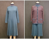 1970s Butte Knits Sweater Dress and Jacket