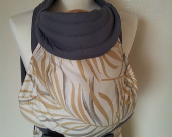 MEI TAI Baby Carrier / Sling / Reversible / Palmera with Grey in straight cut model