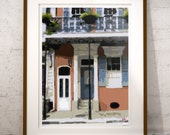 New Orleans French Quarter Shotgun House Art, French Quarter Balcony with Wrought Iron Print, Signed & Numbered, Limited Edition Print