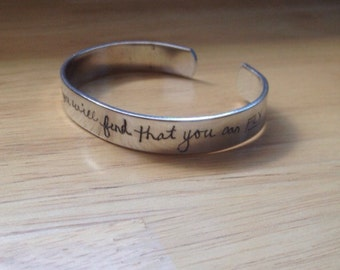 HandScribed™ Custom Handwriting Cuff Bracelet- Handwritten-Custom Jewelry