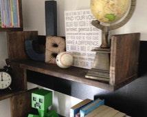 Single 24 inch Book Shelf, Wall Book Shelf, Reading Book Shelf, Rustic Shelf, Nursery Shelf, Floating Shelf, Wood Shelf, Kid's Room,