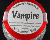 VAMPIRE soap, Blood Orange Essential Oil Soap, Red Citrus Glycerin Shave Soap, Round Soap Puck, Aromatherapy Blood Orange Soap Relaxation