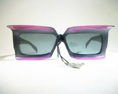 Vintage Foster Grant Sunglasses / 1960's / Purple / Batwing