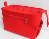 Taller Purse organizer for Louis Vuitton Neverfull GM with Zipper closure- Bag organizer insert in Red