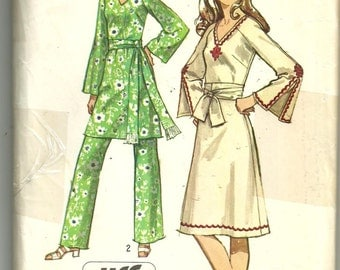 "Vintage 1971 Simplicity 9252  Retro Dress pattern Sz 14, Bust 36"""