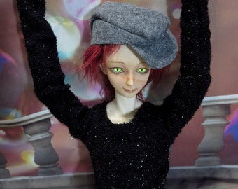 Black Sparkler Sweater 70cm BJD Shirt Dollshe