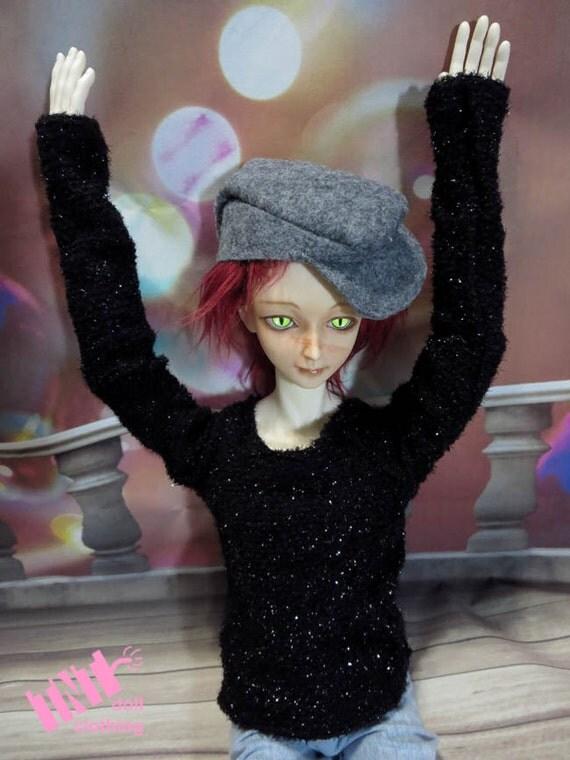 Black Sparkler Sweater 70cm BJD Shirt Dollshe
