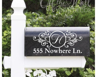 Vinyl Mailbox Lettering Decoration Decal Sticker X2 For Each Side #D1