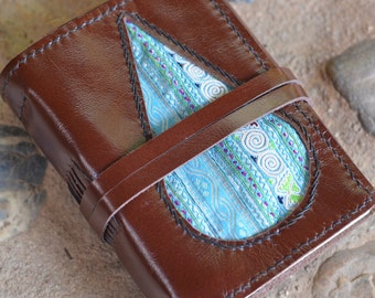 "TRIBAL Leather Journal / Handmade / Diary / 6""X4"" / free initials / lined or Plain"
