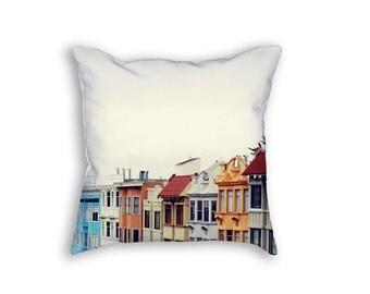 San Francisco Pillow Cover, California Pillow, Colorful Pillowcase, San Francisco Home Decor, City Pillow, Gift Under 50, Hostess Gift
