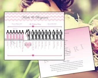 Wedding Program - Rustic - Silhouette - Bridal