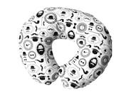 Boppy cover - Nursing pillow cover - Monochrome Modern nursery - Mustache- Baby basics- Black White