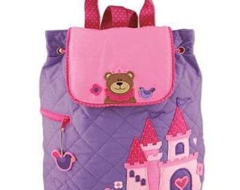 Stephen Joseph Heart Princess Bear toddler backpack personalized monogrammed