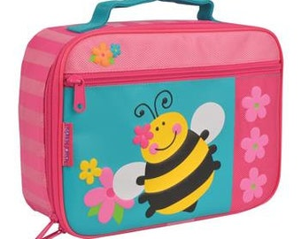 Stephen Joseph  Bumble bee girls lunch box personalized, monogrammed, lunch bag