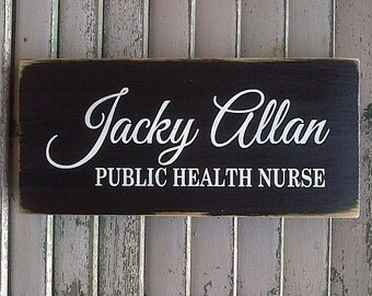 Personalized wooden name sign for work or office by Dressingroom5