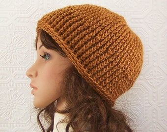 Crochet hat, beanie - camel - ready to ship - winter hat teen hat beanie women's accessories knit beanie - handmade Sandy Coastal Designs