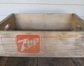 Vintage Seven Up Soda Crate.