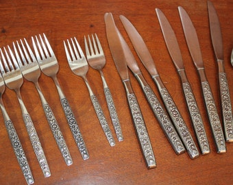 SPRING GARDEN by International Stainless Silverware Vintage Flatware Rogers Cutlery Co. BIN 9