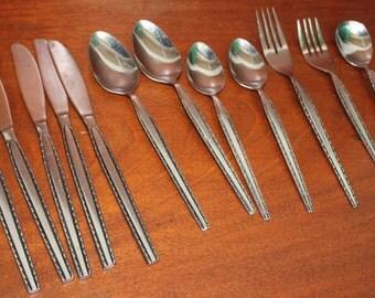ENSENADA from STANlEY ROBERTS  black accent Mid Century modern stainless silverware vintage flatware BIN 11