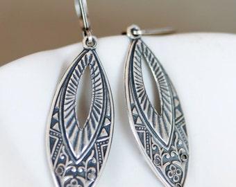 Silver  Earrings,Earrings,Jewelry Gift, Silver Earrings, Silver Faceted Earring,Wedding,Bridal, Bridesmaid Gift