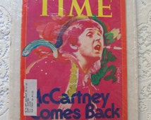 Vintage McCartney Comes Back Time Magazine 1976 Sealed Peter Max Artwork The Beatles Paul McCartney